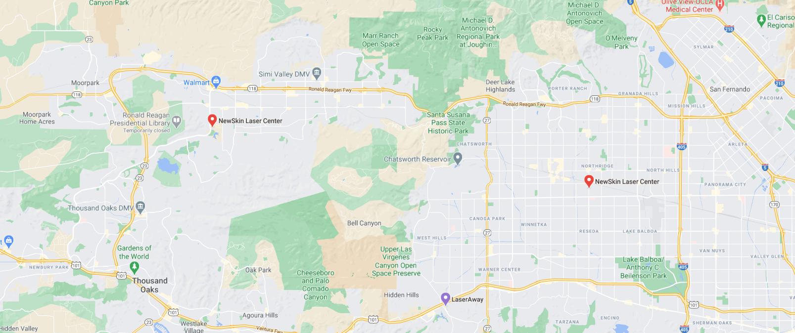 new skin laser center on map